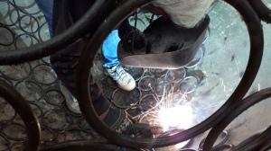 welding iron sculpture