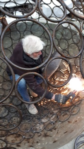welding iron sculpture